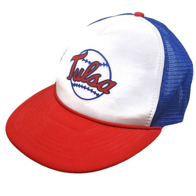 6fb82aa9d43 Vintage Tulsa Baseball Trucker Hat Vintage Mesh Snapback Hat