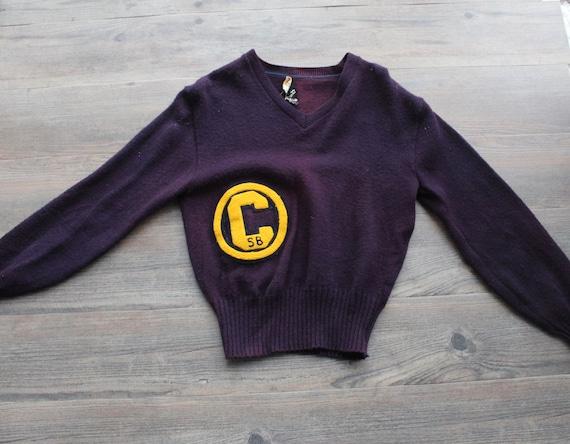 Vintage 1950s 60s Wool Letterman Varsity Sweater … - image 4