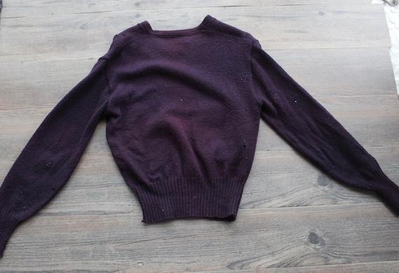 Vintage 1950s 60s Wool Letterman Varsity Sweater … - image 9