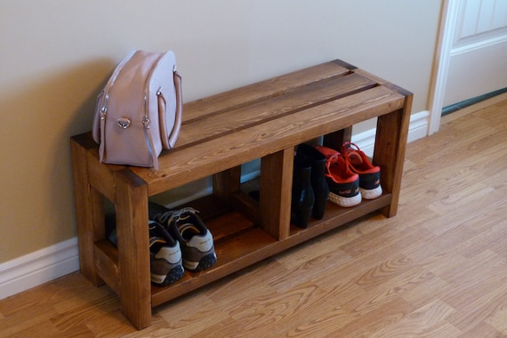 Rustic Shoe Bench Is Stock, Bench With Shoe Storage