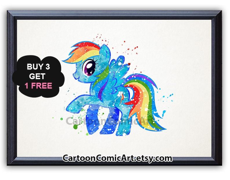 My Little Pony Art Print Poster Rainbow Dash Wall Art Etsy