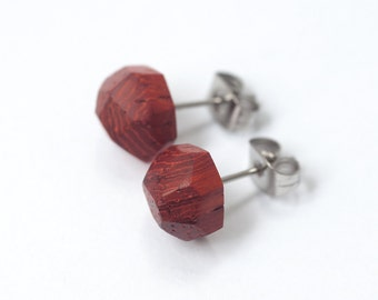 Wooden stud earrings Wood earrings Stud earrings Natural earrings Wooden jewelry Handmade jewelry Natural jewelry