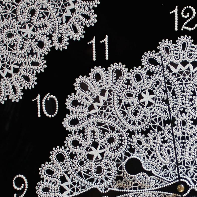 Verre carré, Cadeau de mur d'horloge, Macrame, Mandala, Boho, verre de peinture, horloge de verre, verre peint à la main, art de verre fait main, cadeau de verre, а115