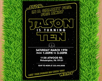Star wars invitation etsy quick view star wars invitation star wars party filmwisefo