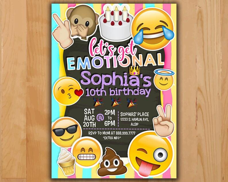 Emoji Birthday Invitation - Instagram Birthday Invitation - Emoticons  Instagram Party - Emoji Party Chalkboard - Oh Snap Instagram Party