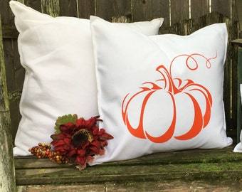 Orange Pumpkin Pillow Case