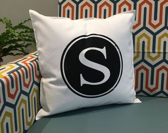 S Initial Pillow Case