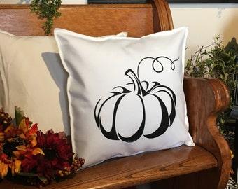 Black Pumpkin Pillow Case