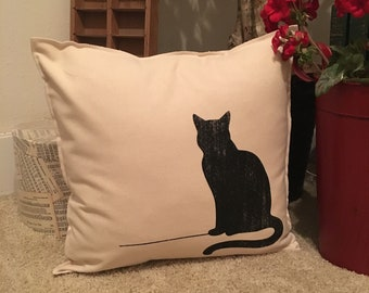 Sitting Cat Pillow Case