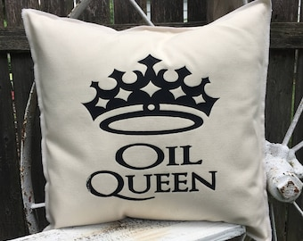 OIL QUEEN 18x18 Pillow Case - Linen
