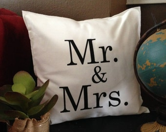 MR. & MRS. Pillow Case
