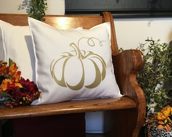 Gold Pumpkin Pillow Case