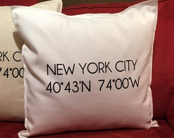 NEW YORK CITY Coordinate 18x18 Pillow Case