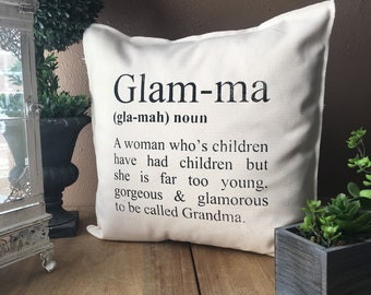 GLAM-MA Definition Pillow Case