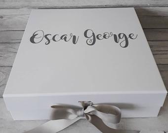 Baby Memory Box, New Baby Keepsake Box, Christening Box, Baby Memories Box, New Baby Gift, Christening Gift, Memory Box, Keepsake Box
