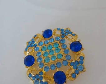 Antique vintage brooch with crystal stones from the years 1990