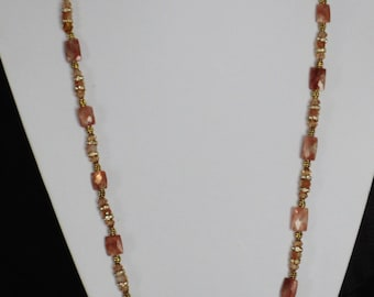 Gold and rust necklace
