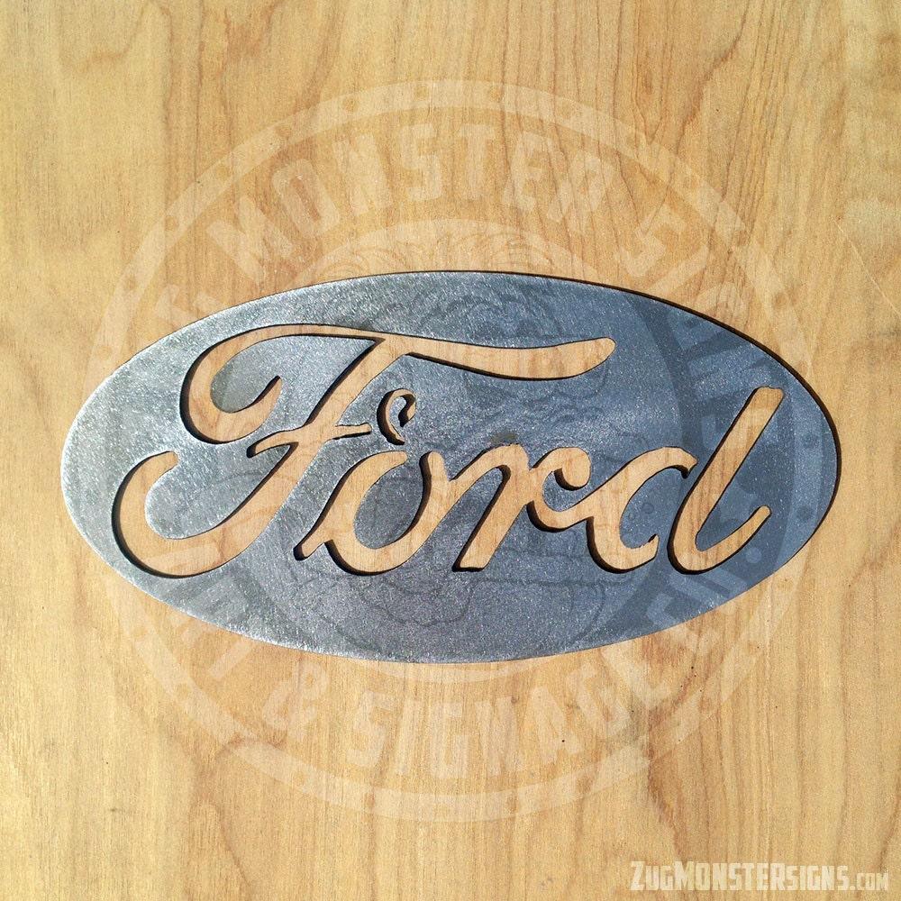Ford Logo Metal Wall Art 16 wide | Etsy