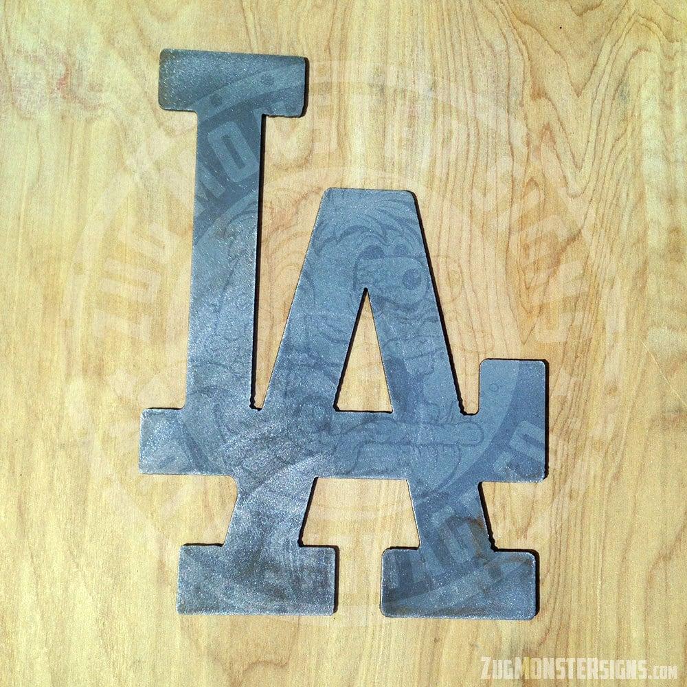 LA Dodgers Baseball Metal Wall Art | Etsy