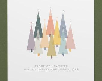 Noble Christmas Card - Postcard Fir Tree - Scandinavian Design