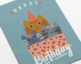 HAPPY BIRTHDAY, CAT! Postcard in a6 format