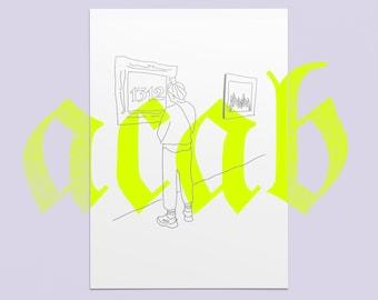 1312 I ACAB I Ghetto Romance I Minimalistic Art Print