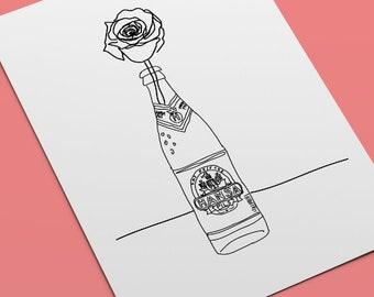 HANSA Pils I Ghetto Romance I Minimalistic Art Print