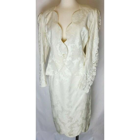Vintage 1980s Jessica McClintock Bridal Skirt suit