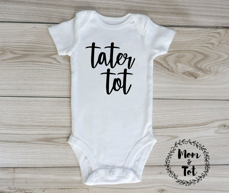 d18fc0d10c6bf tater tot onesie / custom baby onesie / gender neutral / baby clothes /  tater tot baby / baby boy clothing / baby girl clothing