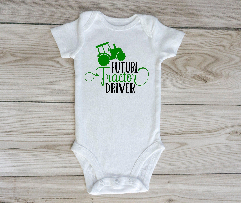 73ea2ccc64ac FUTURE TRACTOR DRIVER   custom baby onesie   farm clothing