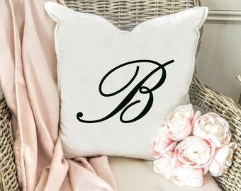 Monogram pillow cover - Initial Pillow Cover - Custom Pillow Cover