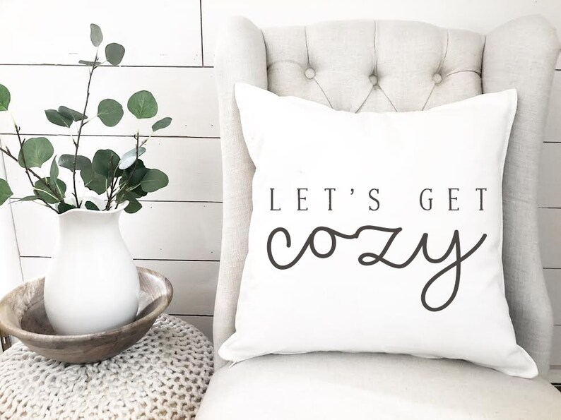 Cozy pillow cover  Winter Pillow Cover  Warm and Cozy Pillow image 0