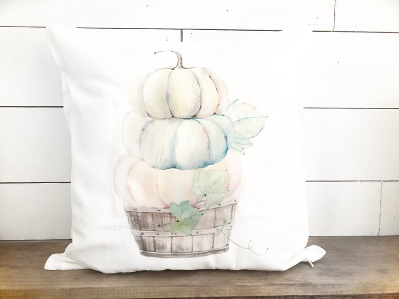 Fall Pumpkin pillow  Stacked Pumpkin Pillow Cover  Fall image 0