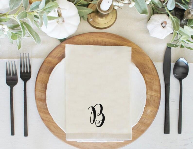 Family Name Napkins Custom Table Napkins Custom Napkin Table Napkin Set Initial Napkin Set Place setting Napkin