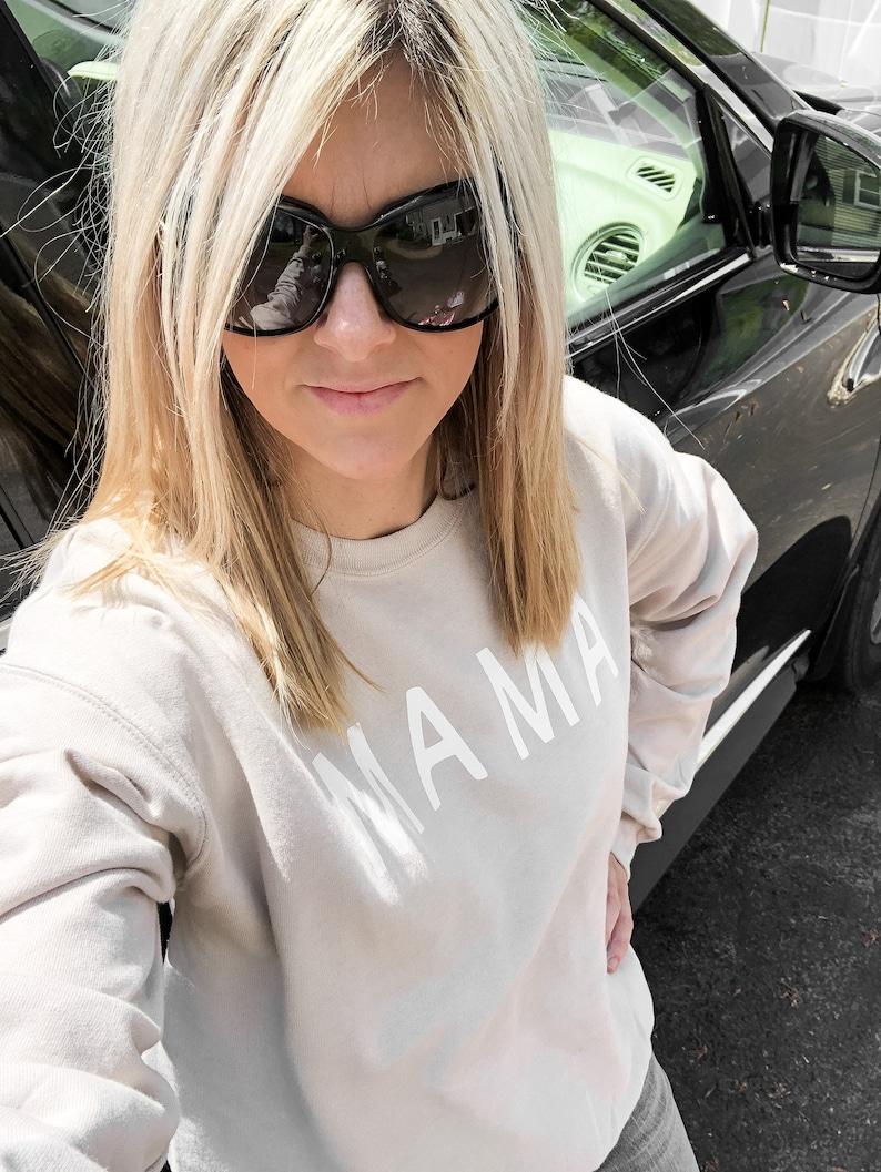 Mama unisex Sweatshirt Mama Crew Motherhood Sweatshirt Mom Sweatshirt