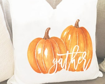 Fall pillows - Orange Pumpkin Pillow Cover - Thanksgiving Pillow - Rustic Pillow Cover - Autumn Pillow Cover - Fall Pillow