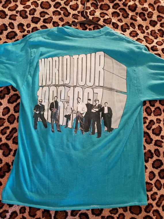 1986 Chicago 86 - 87 World Tour Vintage Baby Blue… - image 2