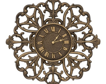 "Filigree Silhouette 21"" Indoor/Outdoor Wall Clock"