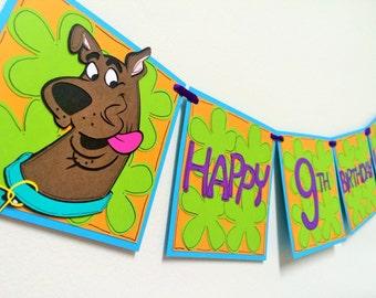 Scooby Doo Birthday Banner