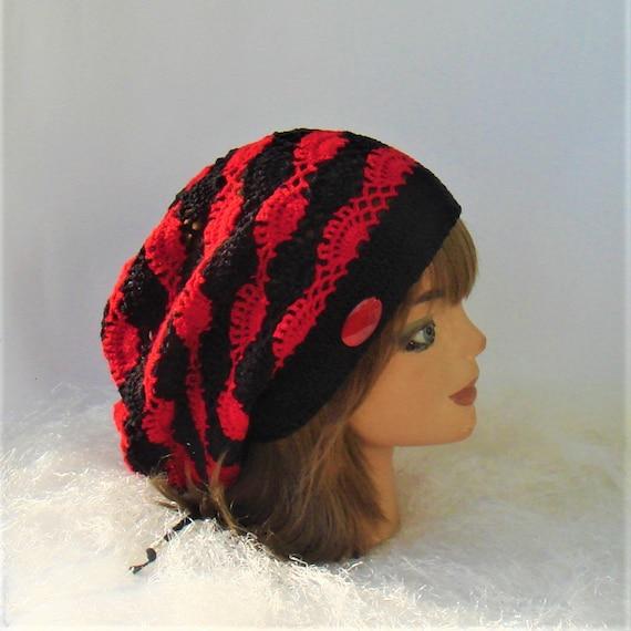 Crochet Rasta Hat Slouchy Rasta Tam Crochet Dread Tam
