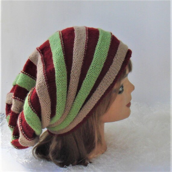 Hut 2 In 1 Dreadlocks Mütze Rastafari Tam Multicolor Beanie Etsy
