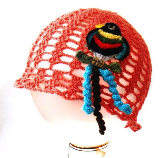 Sommer Häkeln Hut Hut Häkeln Blaugrün Coral Openwork Hut Etsy