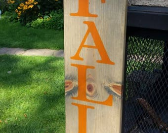 Fall In Love Sign Vertical Porch Sign Halloween Wood Sign Distressed Wood Large Reversible Sign Entryway Decor Rustic Primitive Fall Decor