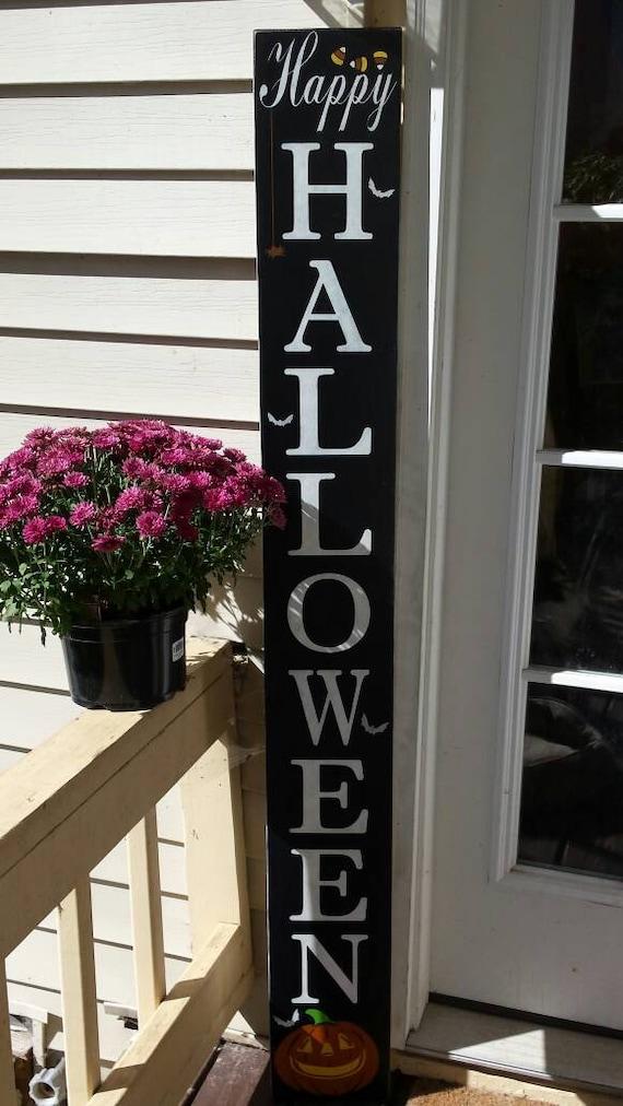 Happy Halloween 5 Ft Porch Sign Reversible Vertical