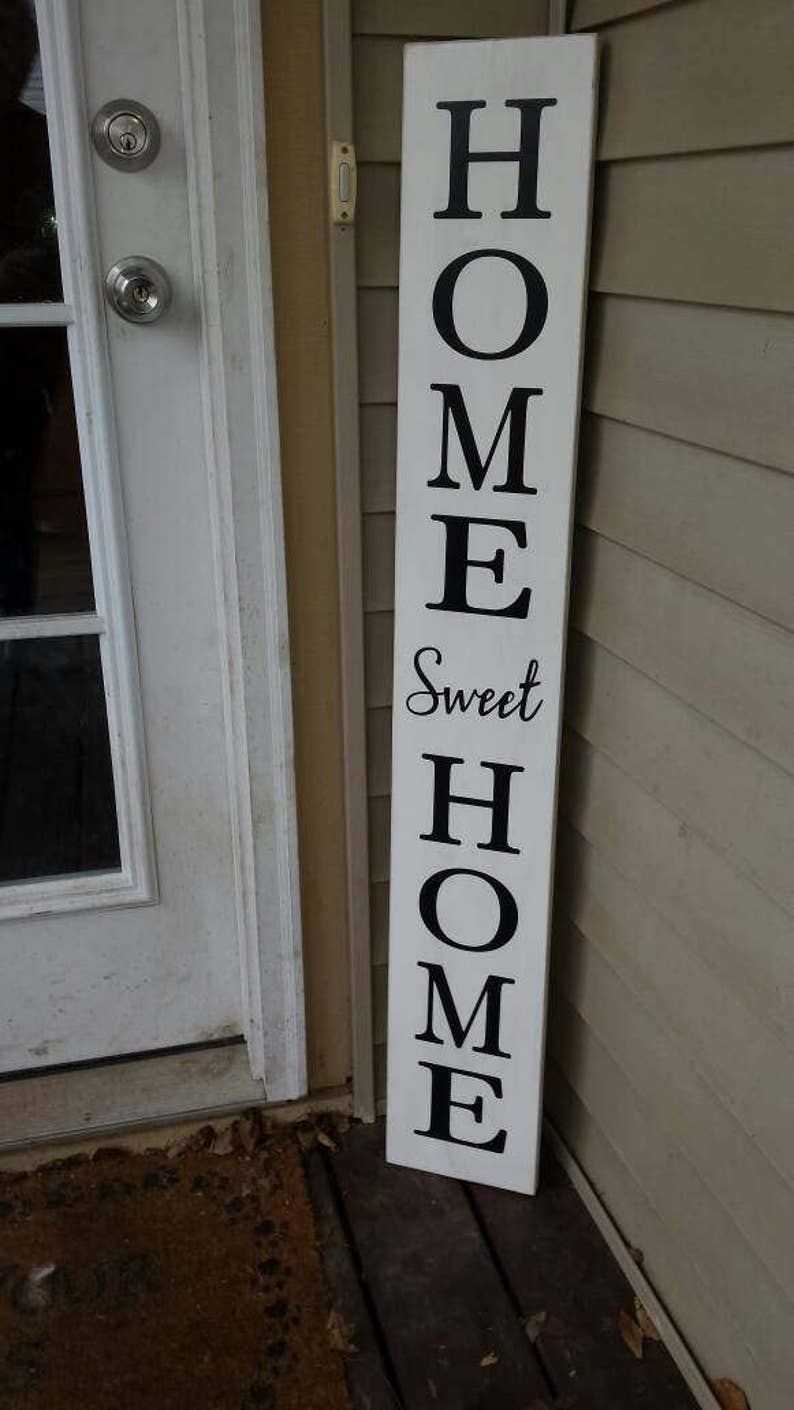 Home Sweet Home Extra Large Porch Sign Vertical Wood Sign ...