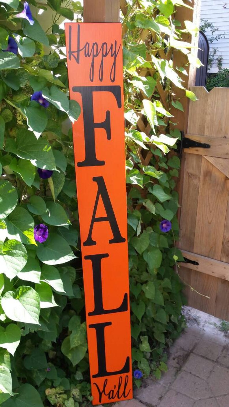 Happy Fall Ya Ll 5 Ft Porch Sign Reversible Vertical Etsy