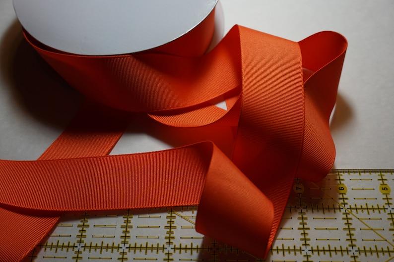 Orange Matte Finish Grosgrain Ribbon  1 1/2 inch width For image 0