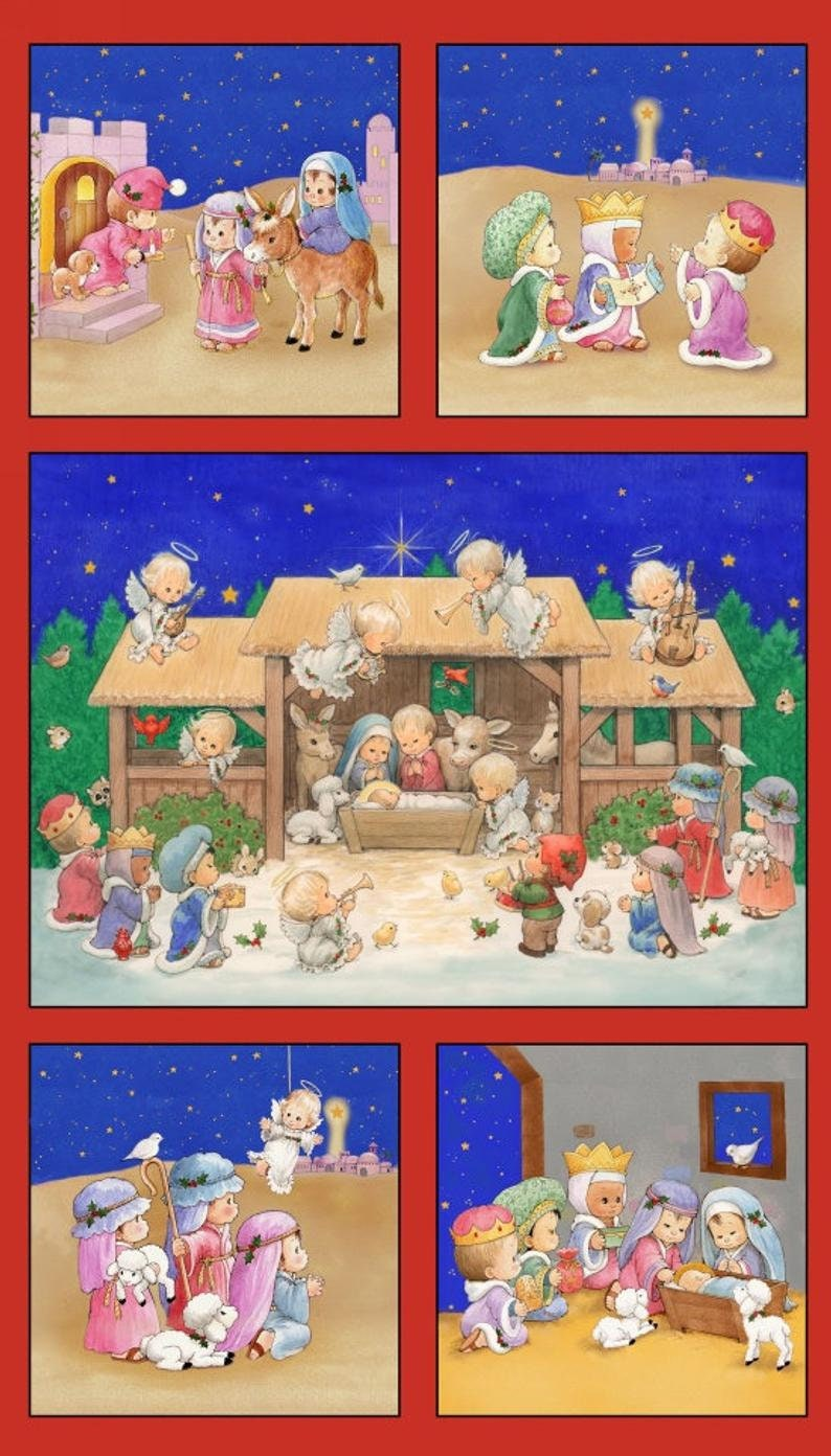 The Little King Nativity Christmas Panel24x44 on image 0
