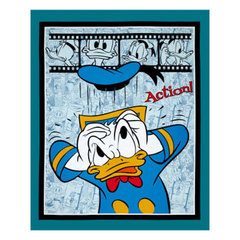 Donald Duck Action 36 x 44 Fabric image 0
