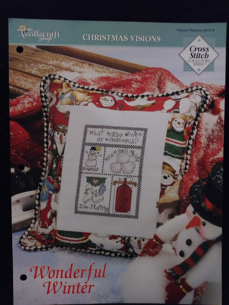 RARE Pattern Booklet Needlecraft Shop Christmas Visions Wonderful Winter complete